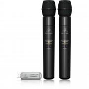 Behringer ULM202-USB Doppio Microfono digitale 2,4 GHz senza fili con microfono palmare e ricevitore USB