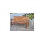 Holzsitzbank, braun Gesamthöhe 930 mm 3-Sitzer