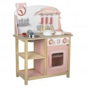 Baninni Play Kitchen Cucina Wood Pink