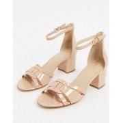 ALDO agreidia leather block heeled sandals in bone-Beige - female - Beige - Size: 6