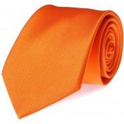Krawatte Seide Orange Uni F01 - Orange