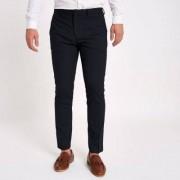 River Island Mens Navy skinny fit smart trousers - Size 52 long (EU)