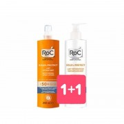 Johnson & Johnson Spa Roc Solari Latte Hydratante SPF 50 Spray 200ml + Omaggio Doposole 200ml