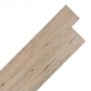 vidaXL Самозалепващи подови дъски от PVC 5,02 м² 2 мм цвят кафяв дъб