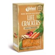 Life Crackers cu legume fara sare bio 90g