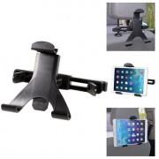 Shop4 - iPad Air Autohouder Hoofdsteun Verstelbare Tablet houder Klem Zwart