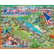 White Mountain Puzzles Lake Placid - 1000 Piece Jigsaw Puzzle