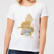 Disney Camiseta Disney La Bella y la Bestia Silueta Bella Be Strong - Mujer - Blanco - XL - Blanco