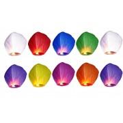Lampión šťastia - mix farieb 10 ks