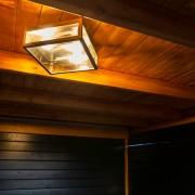 QAZQA Nowoczesny kwadratowy plafon zewnętrzny stal 2-źródła światła - Rotterdam