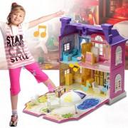EB Casa De Muñecas Con Muebles Casa En Miniatura Dollhouse Ensamblar Juguetes Para Niños