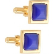 Tripin Brass Cufflink Set(Blue)