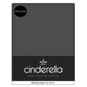 A-Keuze - Cinderella Hoeslaken Percaline Optiform Antraciet-90 x 220 cm