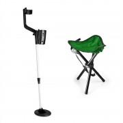 DURAMAXX Basic Green, комплект за търсене на съкровища, детектор за метал + къмпинг стол, 16,5 см сонда (PL-KGS-BG_v2)