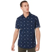 Rip Curl Palm Days Mens Ss Shirt Navy Navy