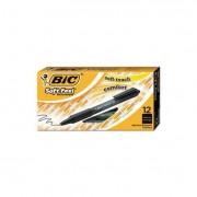 Soft Feel Retractable Ballpoint Pen, Black Ink, .8mm, Fine, Dozen