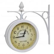 vidaXL Horloge murale à deux côtés Design classique