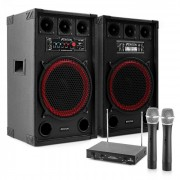 "Impianto Karaoke ""STAR-Kreuzberg"" Casse PA 800 W| Set 2 Canali VHF Radio Microfono"