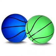 Mini Basketball for Kids Basketballs Baby Toys Ball Indoor Play Game Balls 5.5 Inch - 2PCS (green+blue)
