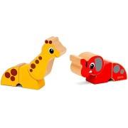 Brio 30284 Mágneses állatkák - zsiráf és elefánt