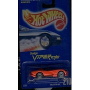 Hot Wheels Red Dodge Viper RT/10 #210 Silver Ultra Hots 1:64 Scale