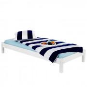 IDIMEX Lit futon TAIFUN, en pin massif, 90 x 200 cm, lasuré blanc