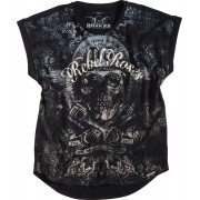 Rokker Rebel Roses 77 Camiseta Women´s Gris L