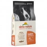12кг Holistic Adult Medium Almo Nature - суха храна за кучета със сьомга и ориз