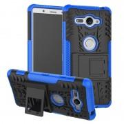 Capa Híbrida Antiderrapante para Sony Xperia XZ2 Compact - Azul / Preto