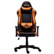 Silla Yeyian Gaming reclinable 4D negro-naranja poliuretano