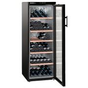 Vitrina pentru vinuri Liebherr WKb 4212, 395 L, 200 sticle, Rafturi lemn, Control taste, Display, H 165 cm, Clasa A, Negru