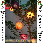 20 Beautiful Christmas Tree Party Fairy lights Colored String Balls