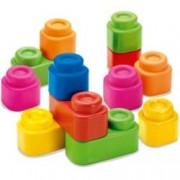 Set cuburi de constructie pentru copii. 24 de cuburi moi Multicolor