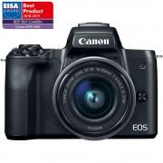 Canon EOS M50 Aparat Foto Mirrorless 24MP Kit cu Obiectiv EF-M 15-45 F/3.5-6.3 IS STM Negru