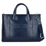 Piquadro Blue Square Business Tasche Leder 42 cm Laptopfach nachtblau