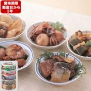 《東急百貨店通販防災》3年保存 ふくら屋のお惣菜缶 5種 計15缶セット