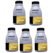 green 5 pcs toner powder for use in samsung ml-1043 ml-101 toner cartridges