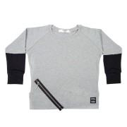 Bluza Zipper Rib - gri, 4-6 ani