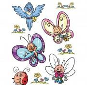 Merkloos 9x Raamstickers vlinders raamdecoratie