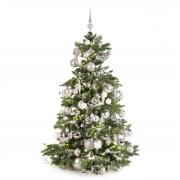 Xmasdeco Luxe kunstkerstboom zilver en helder 150cm