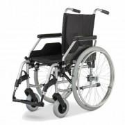 Acél összecsukható önhajtós kerekesszék kivehető kerékkel, Meyra Service Standard 3600, 43cm