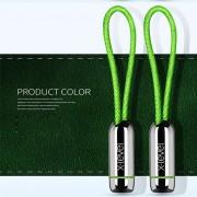 X-LEVEL Lock Buckle Pattern Micro USB Data Sync Charging Cord for Samsung Huawei LG - Green