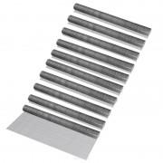 [pro.tec]® 10 rollos de malla de alambre (cuadrados)(1m x 5m)(galvanizado) valla de tela metálica cerca