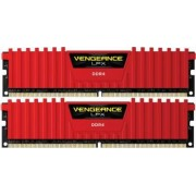 Kit Memorie Corsair Vengeance LPX Red 2x8GB DDR4 4000MHz CL19 Dual Channel