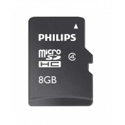 Card memorie Micro SDHC, cu adaptor SD, clasa 10, PHILIPS - 8GB