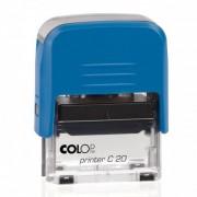 Szövegbélyegző Printer C20 kék ház 14x38 mm