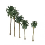 ELECTROPRIME 20 Plastic Model Tree Artificial Coconut Palm Trees Rainforest Scenery 1:150