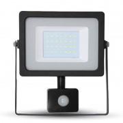 Proiector V-Tac cu LED SMD, cip Samsung, 20 W, 6400 K, senzor de miscare, lumina alb rece