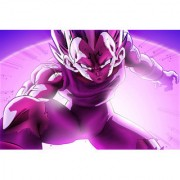 majin vegeta purple sticker poster|dragon ball z poster|anime poster|size:12x18 inch|multicolor