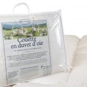 Mille Oreillers Couette en duvet d'oie 140x200 cm - Toutes saisons